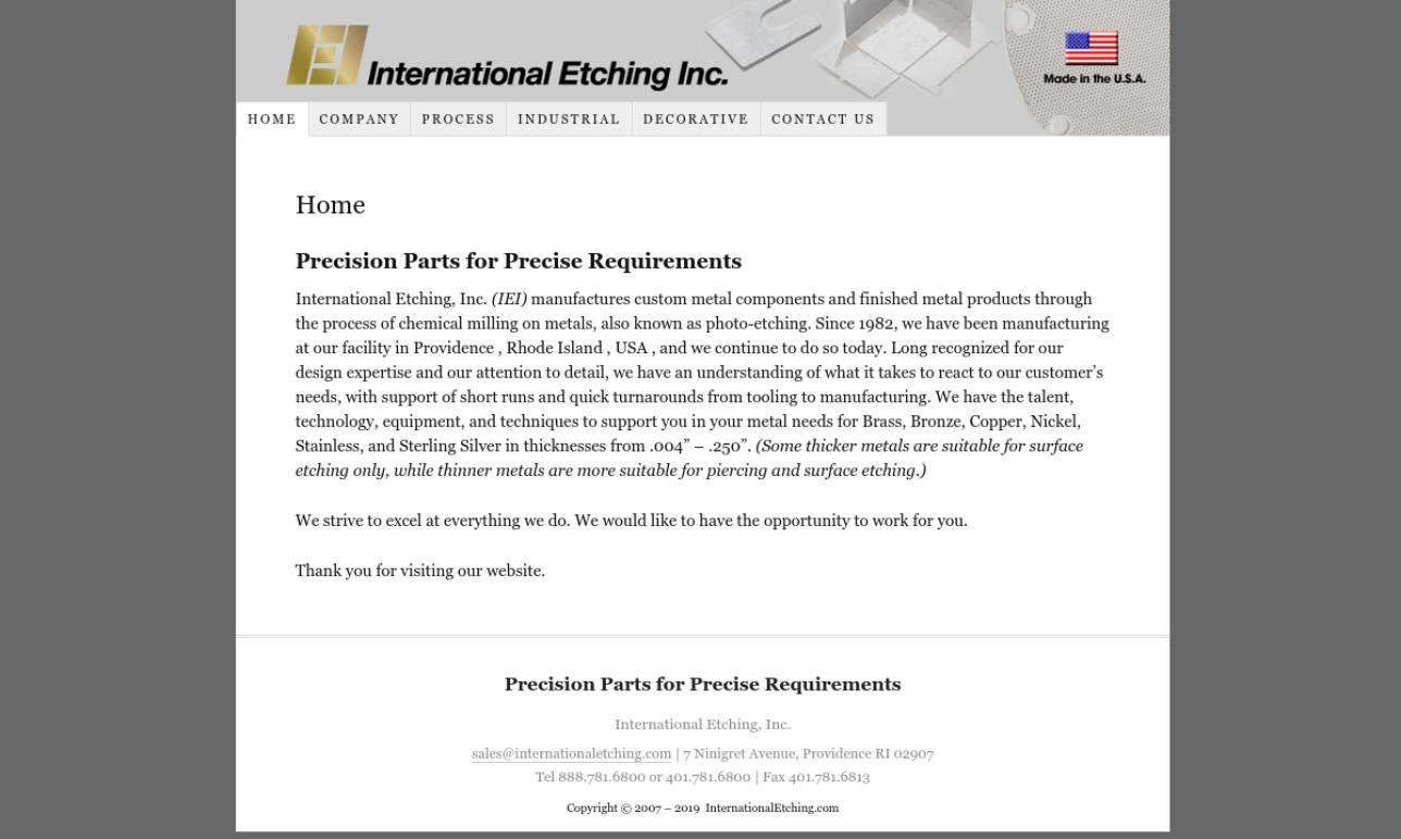 International Etching, Inc.